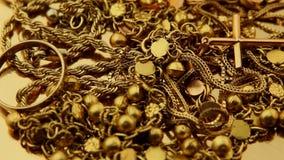 Złocisty biżuterii kręcenie zbiory wideo