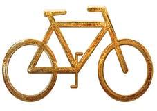 Złocisty bicykl Fotografia Royalty Free