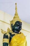 Złocisty Buddha w świątyni przy Thailand fotografia stock
