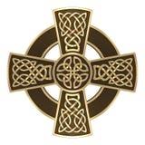 Złocisty Celtycki krzyż obrazy royalty free