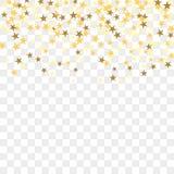 Złocisty confetti tło ilustracji