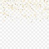 Złocisty confetti tło ilustracja wektor