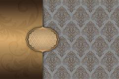 Złocisty dekoracyjny tło z ramą Zdjęcie Royalty Free