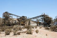 Złocisty Górniczy zakład przetwórczy fotografia stock