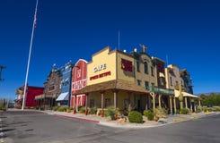 Złocisty Grodzki kasyno i historyczny western projektujemy miasto Pahrump Nevada NEVADA, PAŹDZIERNIK - 23, 2017 - PAHRUMP - Obraz Stock
