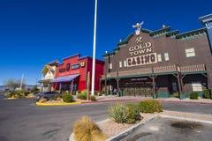 Złocisty Grodzki kasyno i historyczny western projektujemy miasto Pahrump Nevada NEVADA, PAŹDZIERNIK - 23, 2017 - PAHRUMP - Fotografia Royalty Free