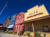 Złocisty Grodzki kasyno i historyczny western projektujemy miasto Pahrump Nevada NEVADA, PAŹDZIERNIK - 23, 2017 - PAHRUMP - Zdjęcie Stock