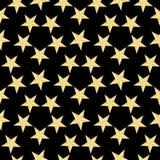 Złocisty gwiazda wzór na czarnym tle również zwrócić corel ilustracji wektora Nowożytna elegancka abstrakcjonistyczna tekstura Ab Obrazy Royalty Free