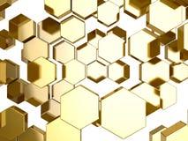 Złocisty honeycomb wzoru tło ilustracji