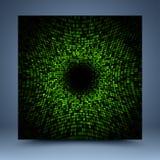 Złocisty i czarny abstrakcjonistyczny szablon Zdjęcie Stock