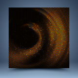 Złocisty i czarny mozaika abstrakta tło ilustracja wektor