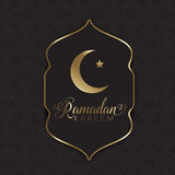 Złocisty i czarny Ramadan tło Obraz Royalty Free