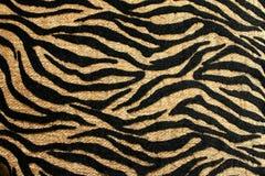 Złocisty i Czarny Tygrysi projekt z Bogatą teksturą obraz royalty free