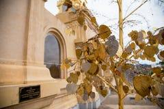 Złocisty i Srebny liść robić od brązu Zdjęcie Stock
