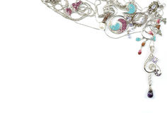 złocisty jems biżuterii biel zdjęcie royalty free
