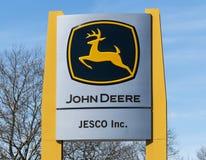 Złocisty John Deere znak zdjęcie royalty free