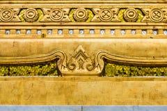 złocisty laithai świątyni okno zdjęcia stock