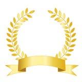 złocisty laurowy faborek royalty ilustracja
