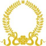 złocisty laurowy wianek ilustracja wektor
