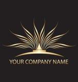 Złocisty lotosowy logo Obrazy Stock