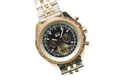 złocisty luksusowy zegarek Zdjęcia Royalty Free