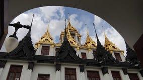 Złocisty metalu kasztel tylko w Thailand Tylko w świacie Zdjęcia Royalty Free