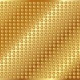 Złocisty metalu tło z nitami Obrazy Stock