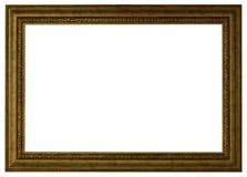 Złocisty obrazek ramy odosobniony biel fotografia stock
