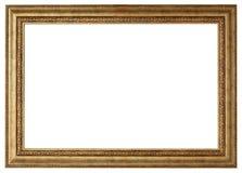Złocisty obrazek ramy odosobniony biel zdjęcia stock