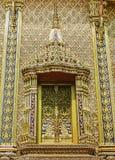 Złocisty okno świątynia fotografia royalty free
