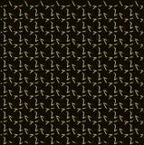 Złocisty okresowy gwiazdowy wzór, czerń i żółty bezszwowy tło, Fotografia Royalty Free