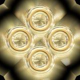 złocisty ornament ilustracji