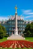 Złocisty oskrzydlony zwycięstwo statuy pierwszej wojny światowa pomnik Zdjęcia Royalty Free