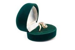 złocisty pierścionek Zdjęcie Stock