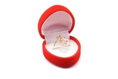 złocisty pierścionek Obraz Stock