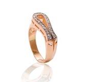 złocisty pierścionek Obrazy Stock