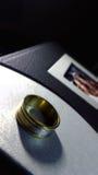 Złocisty pierścionek Obrazy Royalty Free