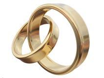 złocisty pierścionek dwa Fotografia Royalty Free