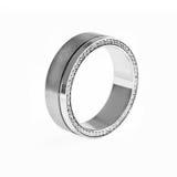 Złocisty pierścionek z diamentami Fotografia Royalty Free
