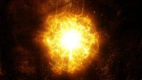 Złocisty pomarańczowy energetyczny sedno wstępu loga tła tło ilustracji