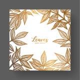 Złocisty projekta szablon dla ślubnych zaproszeń, kartka z pozdrowieniami, etykietki, pakuje projekt, rama dla inspiracyjnych wyc royalty ilustracja