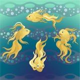 Złocisty ryba pływanie w morzu Zdjęcie Royalty Free