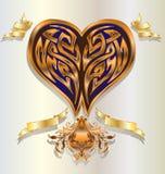 złocisty serce ilustracji