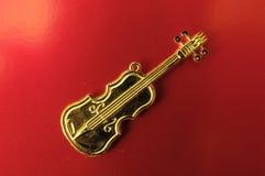 Złocisty skrzypce Obraz Royalty Free