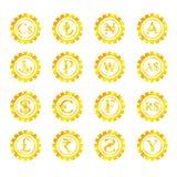 Złocisty symbolu pieniądze Fotografia Royalty Free