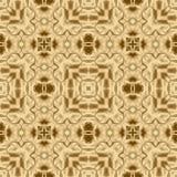 Złocisty symetria wzór i geometryczny złoty projekt, kruszcowy kalejdoskopowy royalty ilustracja