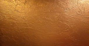 Złocisty tła, tekstury lub gradientów cień Błyszczący żółty liść złocistej folii tekstury tło zdjęcie stock