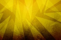 Złocisty tło z abstrakcjonistycznym trójboka projektem z grunge textured granicę Obraz Stock
