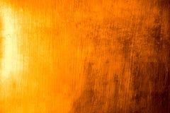 Złocisty talerz Odbija lekką abstrakcjonistyczną teksturę i tło obraz royalty free