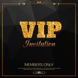 Złocisty VIP tło VIP klub Członkowie tylko VIP royalty ilustracja